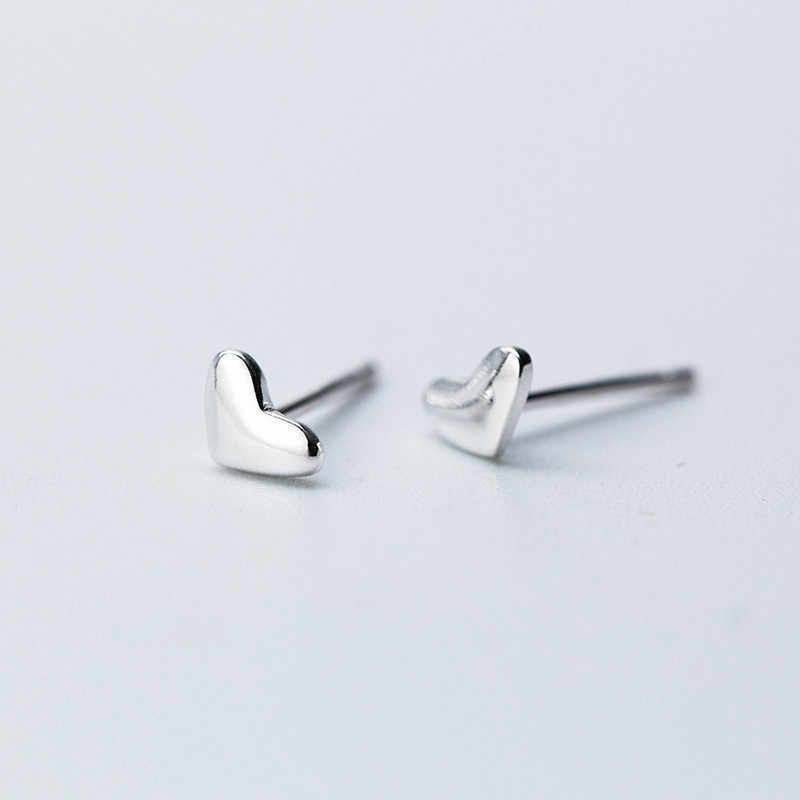 925 Sterling Silver Heart Stud Earrings for Women Party Jewelry brincos boucle d'oreille femme