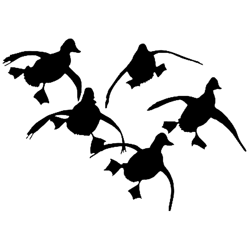 14*10CM Funny Flying Ducks Car Stickers Personality Vinyl Car Styling Decal Accessories Black/Silver S6-2651 14cm 9cm fashion x wing star wars funny vinyl car styling decal car stickers black silver s6 3687