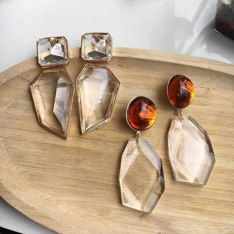 Miwens Za Crystal Vintage Drop Earrings Big Pendant Earrings Female Wholesale Dropshipping Factory Ear Accessories Bijoux A046