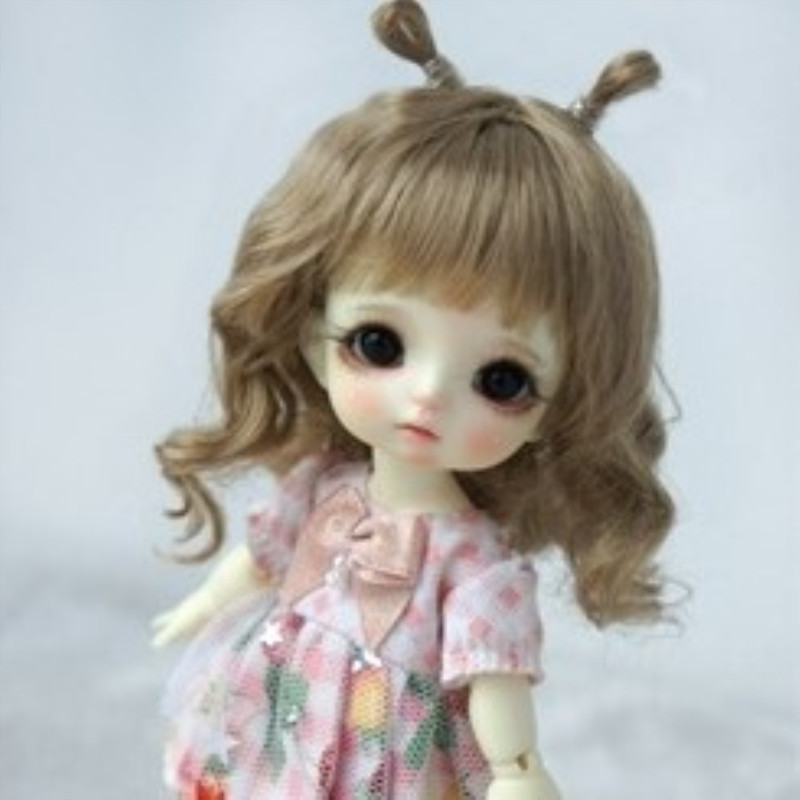 BJD Wig For 12 Bjd Doll 5 To 6 Inch Head Light Brown