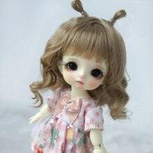 Bjd парик для 12 bjd кукла 5 до 6 дюймов головной светильник коричневый