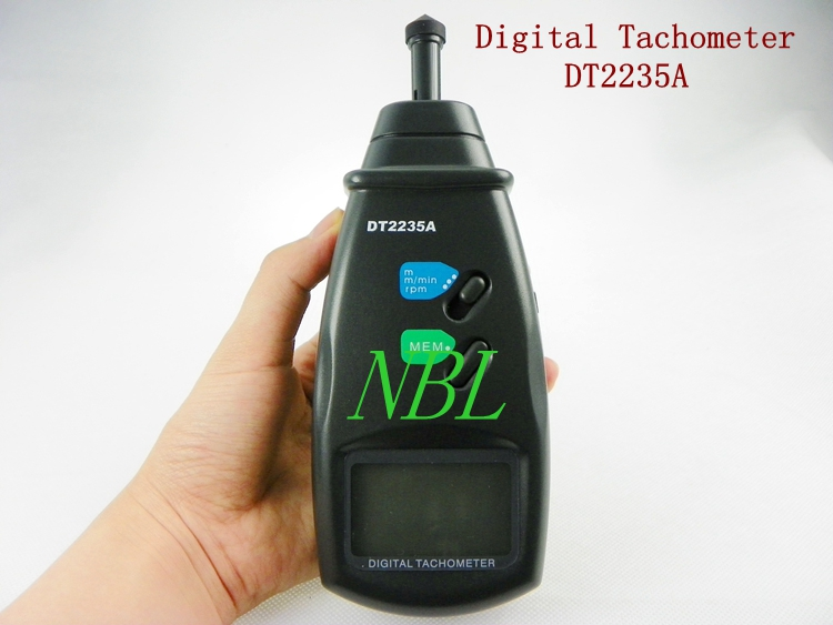 ФОТО Digital Contact Tachometer 0.5 to 19999RPM LCD Auto Range Electronic Speedometer RPM Meter Speed Measuring Instruments DT2235A