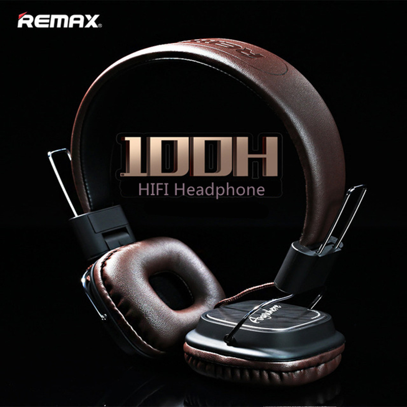 Original Remax 100H wired Stereo noise cancelling headband Headphones HIFI Headphone Headset with microphone PK Marshall major
