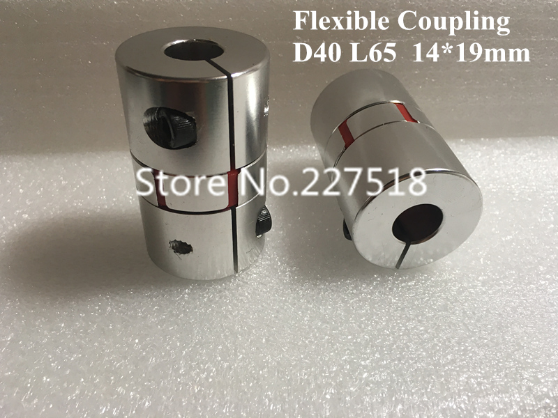 2pcs Stepper Motor Shaft Coupler 14mm x 19mm Flexible shaft coupling D40 L65 shaft coupling Coupler 2pcs diametre 30mm shaft diameter5 14 dual diaphragm couplings ball screw cnc coupling shaft connector servo motor coupling page 5