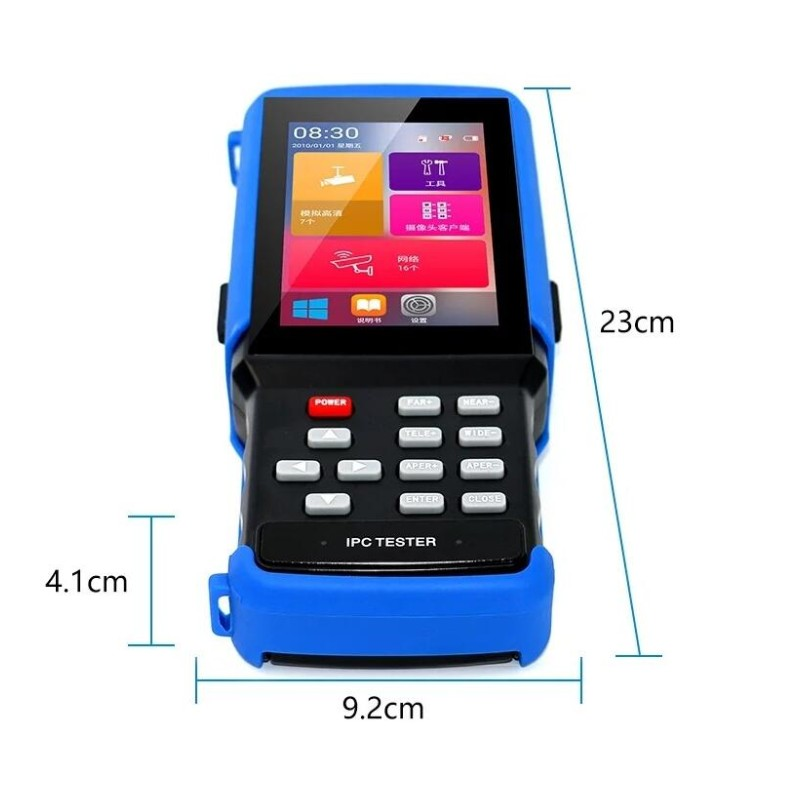 """Image 3 - 4.3"""" HD H.265 IP CCTV Tester Monitor with wire tracker tracer AHD CVI TVI Analog CVBS wifi Camera Tester 8MP RJ45 TDR ONVIF POE-in Transmission & Cables from Security & Protection"""