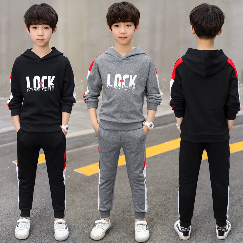 Boys Clothes Tracksuit Boutique Kids Clothing Boy Outfits Fall Autumn Children Toddler Sweatshirts +Pants