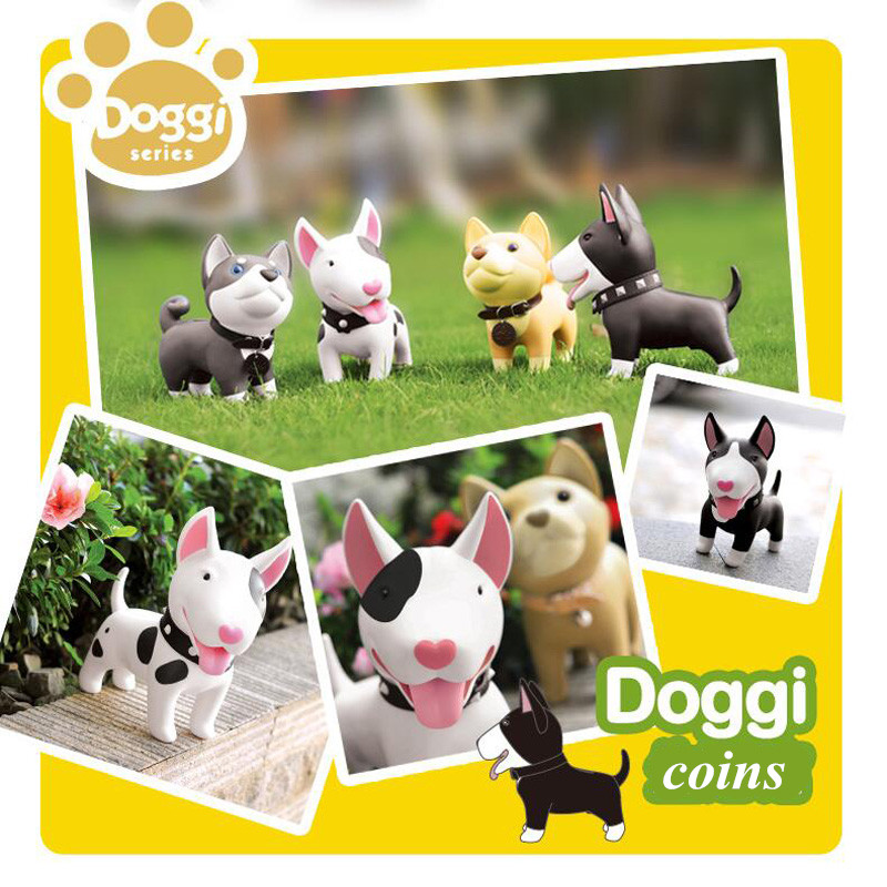 Luxury Dog Piggy Bank Cartoon Doggy Figurines Artware PU Huskies Money Box Leather Kid Cash Box Birthday Gift Free ShippingLuxury Dog Piggy Bank Cartoon Doggy Figurines Artware PU Huskies Money Box Leather Kid Cash Box Birthday Gift Free Shipping