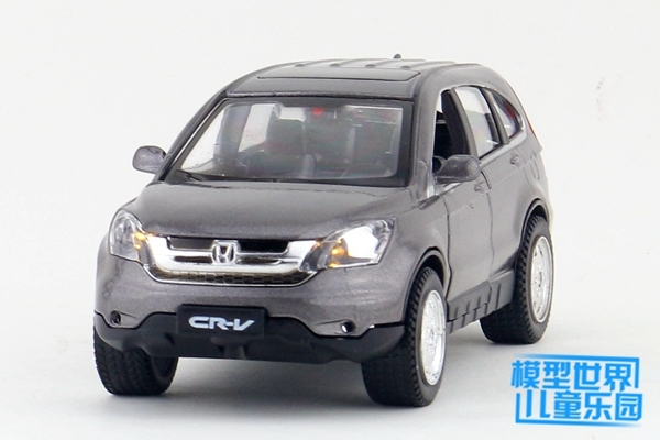 1PC 15cm Tia more Simulation model of alloy car 1:32 Honda CRV toys for children Two open back to light gifts
