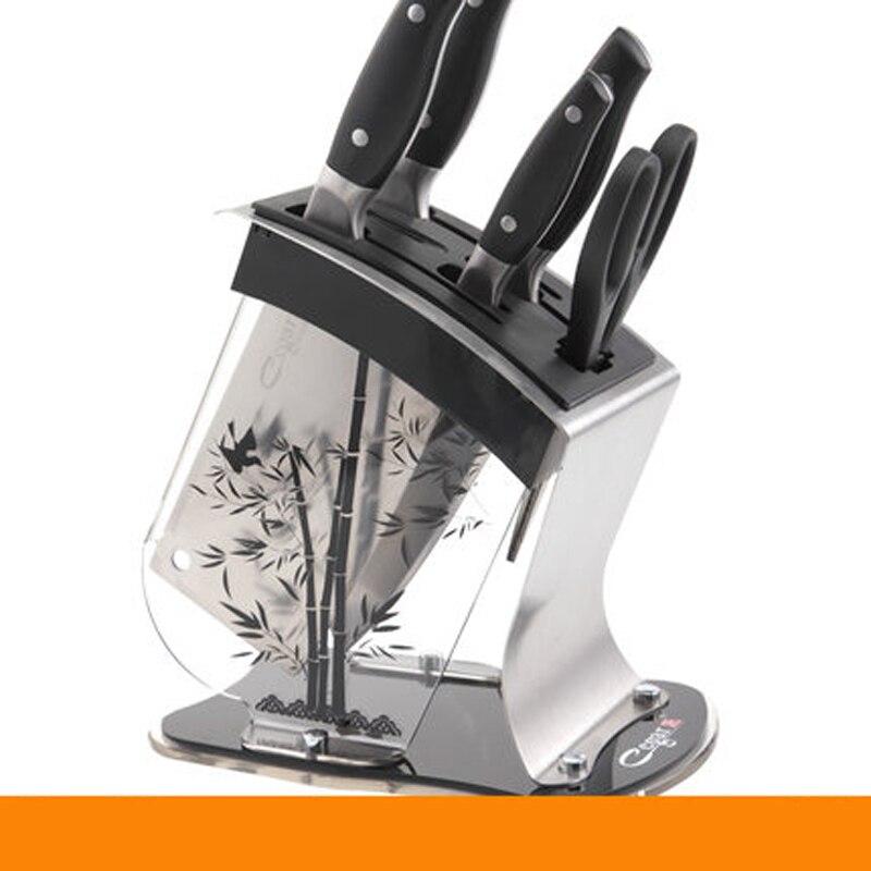 แฟชั่นพลาสติกมีดบล็อกคริลิคมัลติฟังก์ชั่ผู้ถือมีดผู้ถือเครื่องมือสแตนเลสมีดยืนอุปกรณ์ครัว-ใน บล็อกและกระเป๋าพกพา จาก บ้านและสวน บน   3