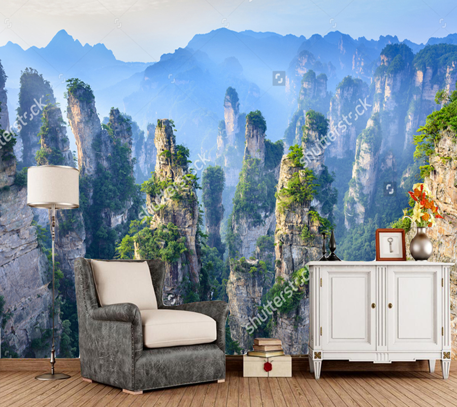 Chinese landscape wallpaper,Landscape of Zhangjiajie,natural photo mural for living room bedroom sofa background papel de parede балдахин на детскую кроватку купить в пензе