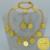 Etíope de La Moneda Joyería set Collar/Brazalete/Pendientes para Las Mujeres, Etiopía León de Oro de África Monedas Joyería regalos #037006