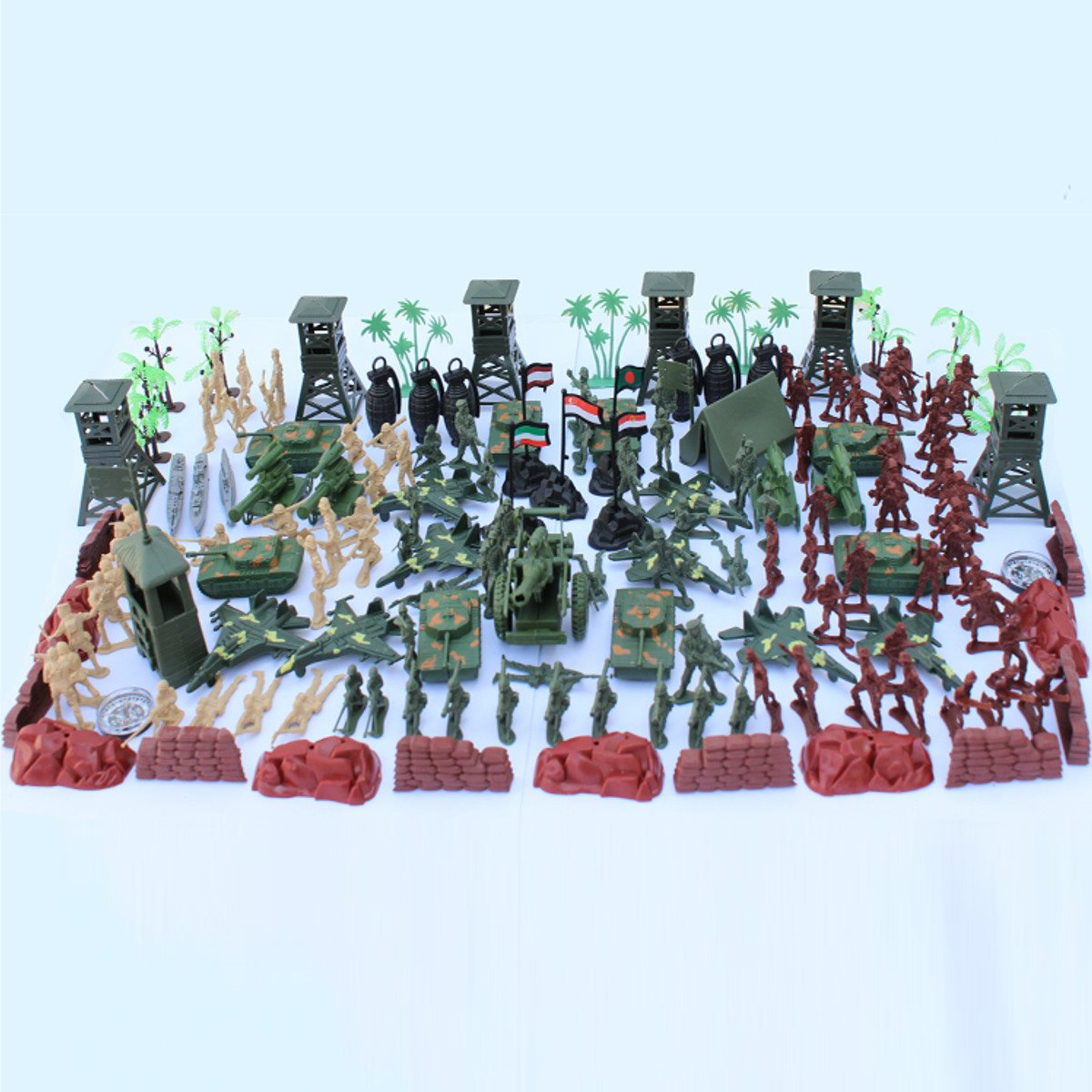 170pcs/set PVC Military Plastic Model Toy Soldier Funko Pop Action Figure Army Men Figures & Accessories Playset Kit Saint Seiya