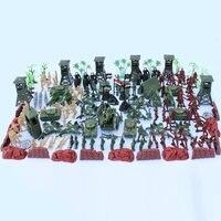 170pcs/set PVC Military Plastic Model Toy Soldier Funko Pop Action Figure Army Men Figures & Accessories Playset Kit Saint Seiya