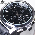 Luxury Brand 6 Hand 24 Hours Men's Automatic Mechanical Watches Date Aviator Clock Casual Sports Men Military Pilot Wrist Watch