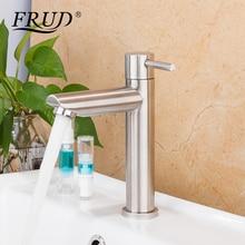 FRUD смеситель для раковины из нержавеющей стали, кран для водопада, кран для ванной комнаты, смеситель для раковины griferia