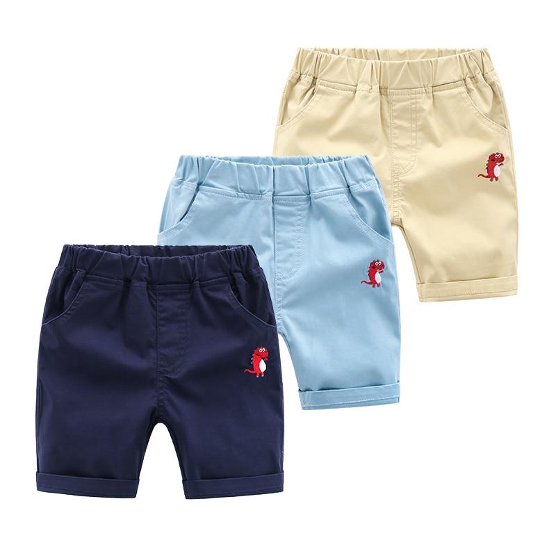 2-8y Baby Jungen Hosen Sommer 2019 Dünne Kinder Strand Shorts Elstic Taille Baumwolle Kinder Knie Länge Hosen Pantalons Garçons