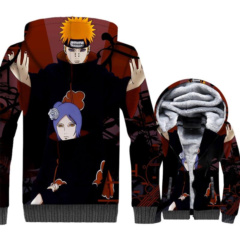 2019 winer Thick swag coats Anime Naruto Thitara Sanri Nagato sweatshirt men casual wool liner jackets 3D Printed zip tracksuits in Hoodies amp Sweatshirts from Men 39 s Clothing