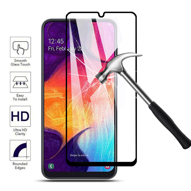 for samsung galaxy a50 full cover tempered glass protect