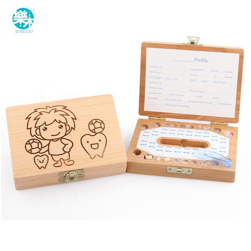 Teeth Box Organizer  Baby Keep Milk Teeth Wood Storage Box Great Gifts 3-6 YEARS Creative Boy For Kids Children Christmas Gifts
