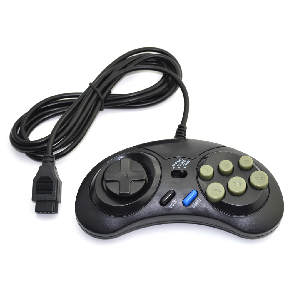 Classic for SEGA Wired Game Controller Genesis 16 bit Gamepad for SEGA Mega Drive Mode Fast Slow image