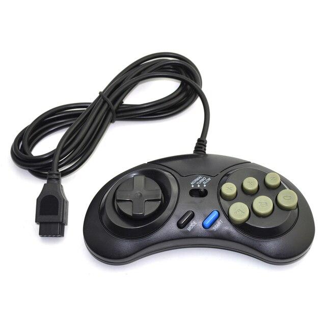 وحدة تحكم في الألعاب بسلك SEGA لوحة ألعاب 16 بت لوضع محرك سيجا ميجا سريع البطء