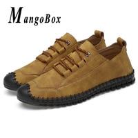Big Size Mens Shoes Size 38 46 Man Casual Shoes Spring Autumn Classic Flat Footwear Men Khaki Yellow Walking Male Shoes