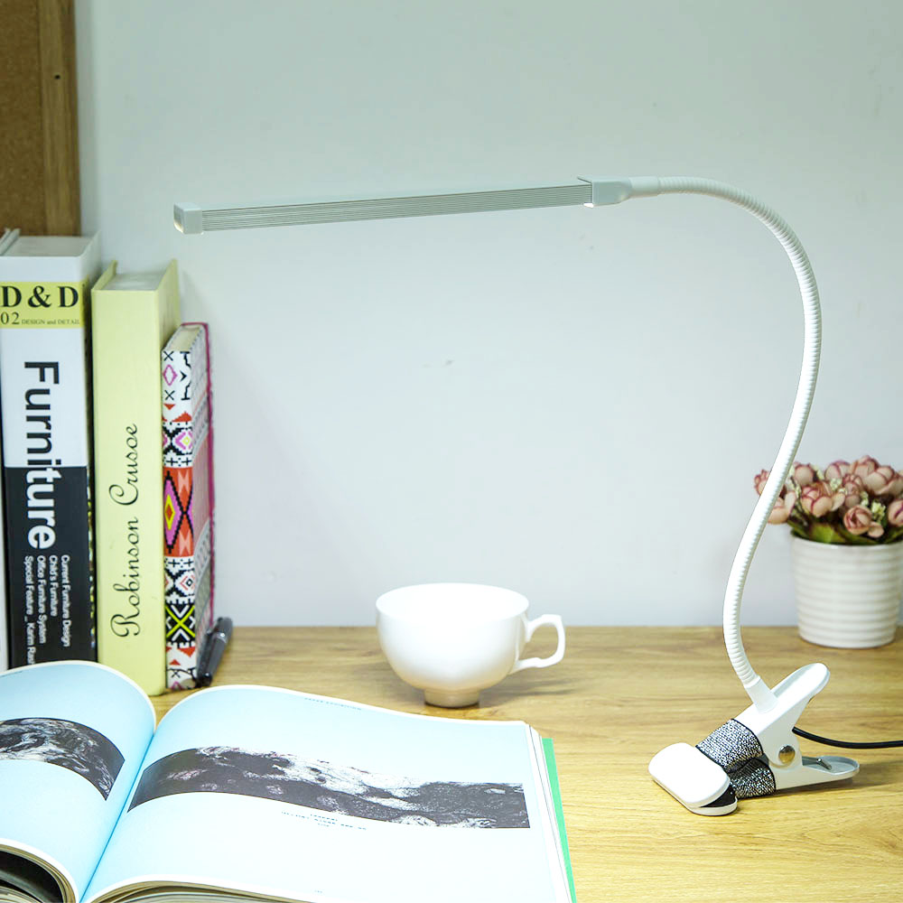 Brightest 6W USB LED Light Clip on Flexible Reading Bed Lamp Table Desk Lamp Book Desktop Bed Lamp Lighting Bedside Lighting
