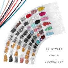 Colorful Silver Gold Color Metal Chain Nail Art Decorations Multi-size Line Alloy Decoration