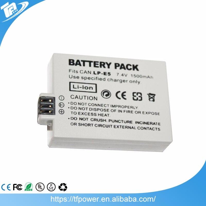 <font><b>Lithium</b></font> ion Rechargeable 7.4V <font><b>Battery</b></font> Pack LP-E5 1500mAh for Canon EOS 450D