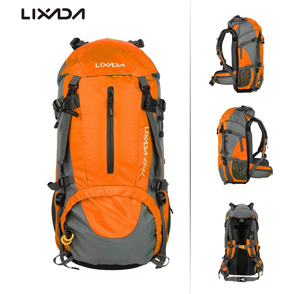 Lixada 50L Outdoor Sport Hiking Camping Travel Backpack Pack Mountaineering Climbing Backpacking Trekking Bag Knapsack