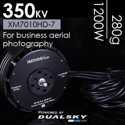 все цены на DUALSKY Xmotor Heavy Duty Series High Voltage (HV) Multi-copter Motor XM7010HD-7 350KV V2 / XM7010HD-16 155KV 10-12S V2