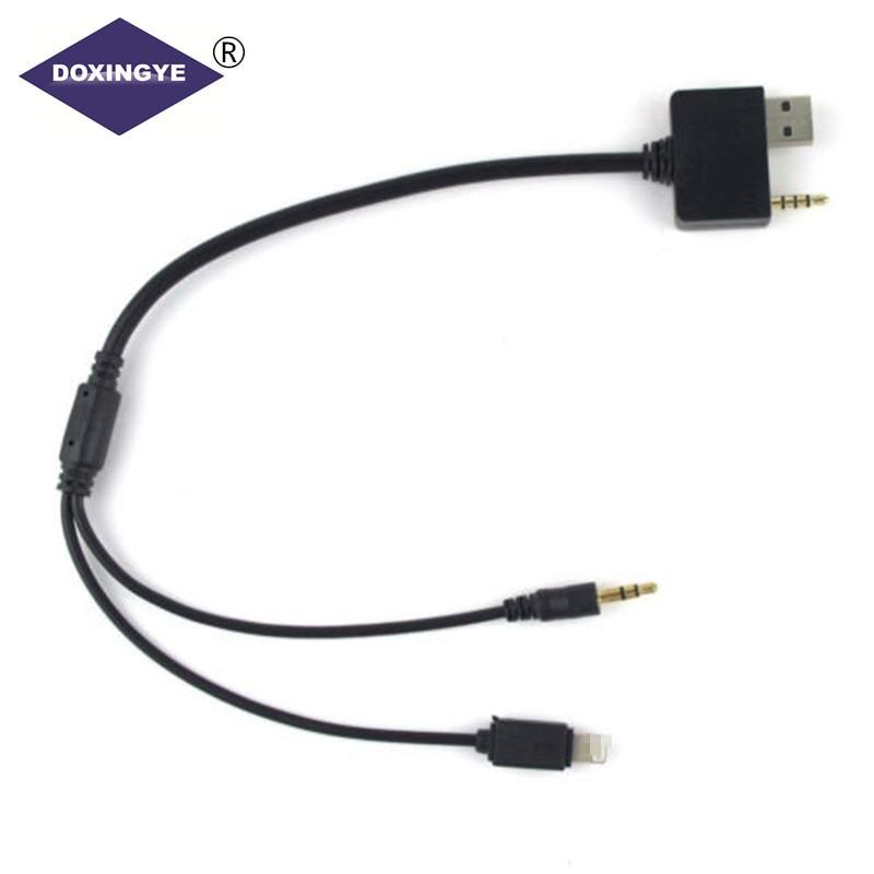 0dfba1c29f9 DOXINGYE para Hyundai Kia coche de Cable de Audio de música del cargador  del adaptador de cable para iphone 5 5s 6 6s plus Ipod Ipad