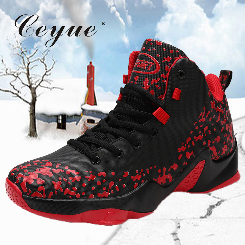 aca72f06cc5 Ceyue 2019 Men Basketball Shoes Big Size 39-46 High Men Lace Up Stability  Basketball