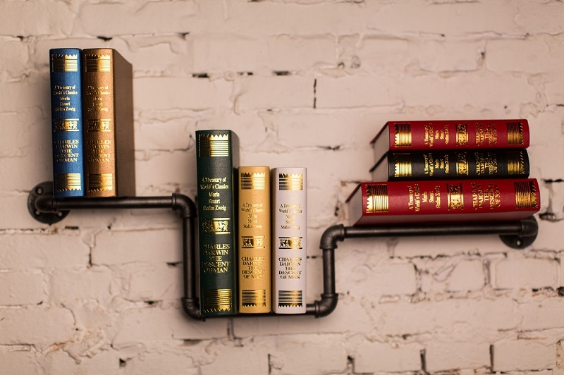 Фото LOFT AMERICAN COUNTRY TO DO THE OLD STYLE WROUGHT IRON WALL SHELF BOOKCASE SHELF RETRO INDUSTRIAL RUST-PROOF PIPES-Z36