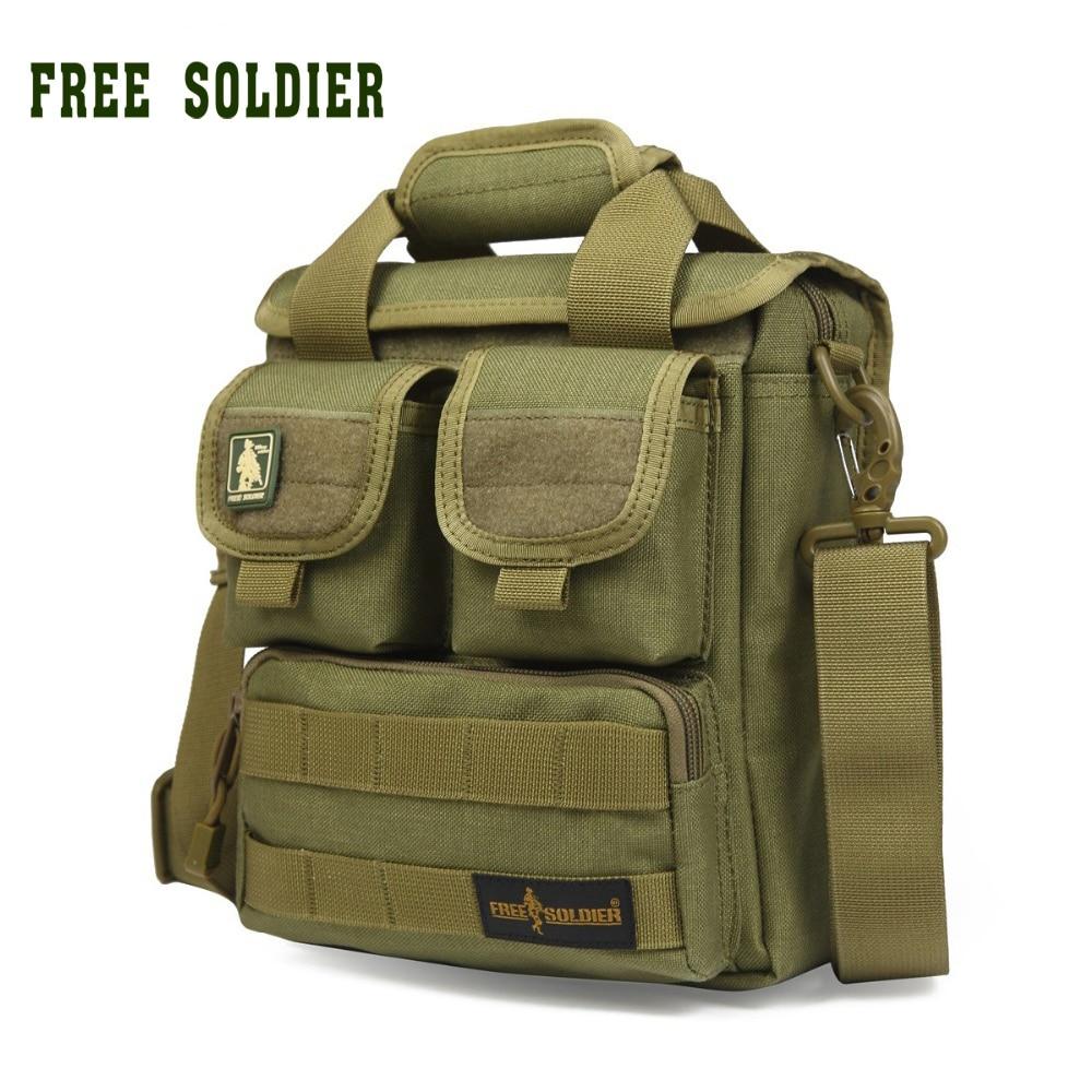 FREE SOLDIER 100% CORDURA material YKK zipper  Hiking&Camping single shoulder bags men's Tactical handy bags