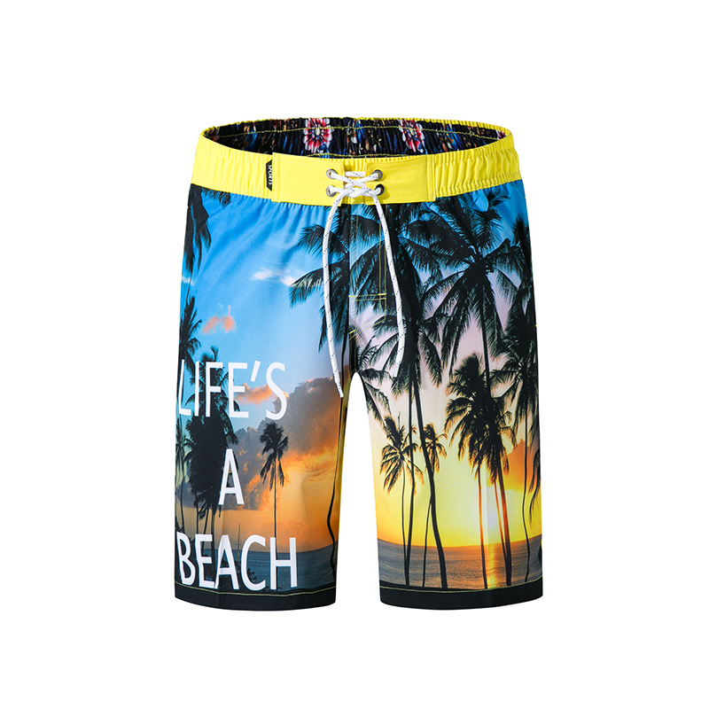 New Fashion Men Sporting Beaching   short   masculino Polyester Bodybuilding Sweatpants Fitness   board     shorts   Casual   Shorts   Men