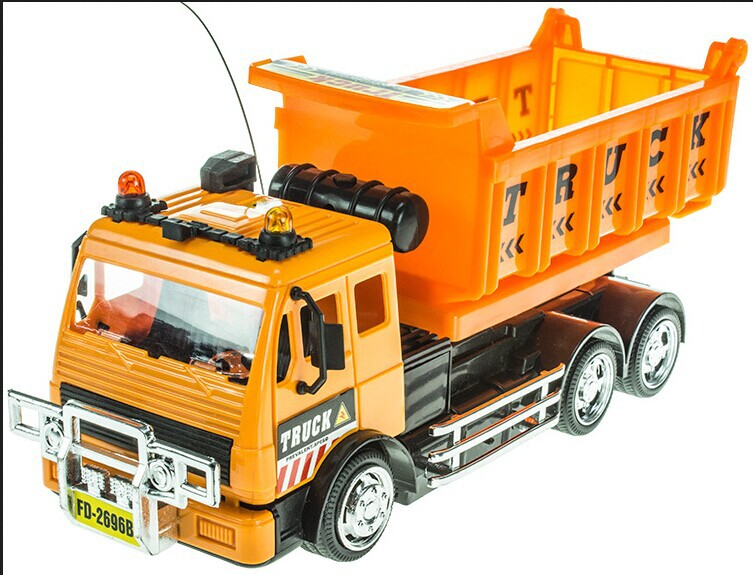 Baby Toys Remote Control Engineering Car Dump Truck Oil