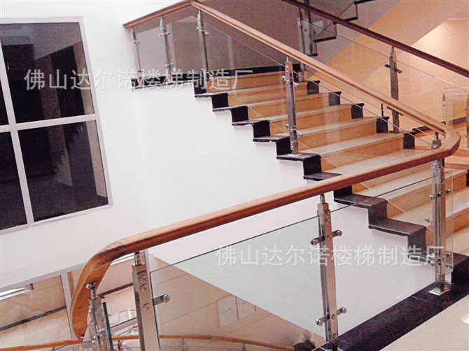... Brushed Stainless Steel Staircase Handrail Guardrail Uprights Balcony  Railings Stair Parts ...