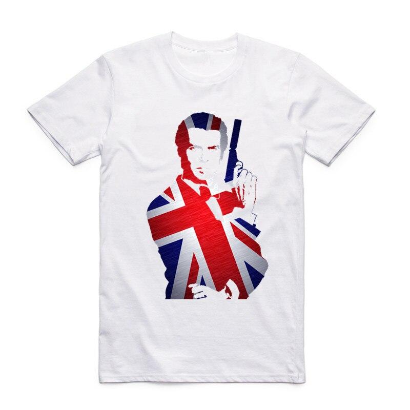 Moda para hombres Película de cine Película James Bond 007 Camiseta - Ropa de hombre - foto 2