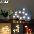 AGM Blue Cloud Shaped High Light Table Lamp 3D Cloud LED Battery Night Light For Kid Children Gift Bed Room Atmosphere Light