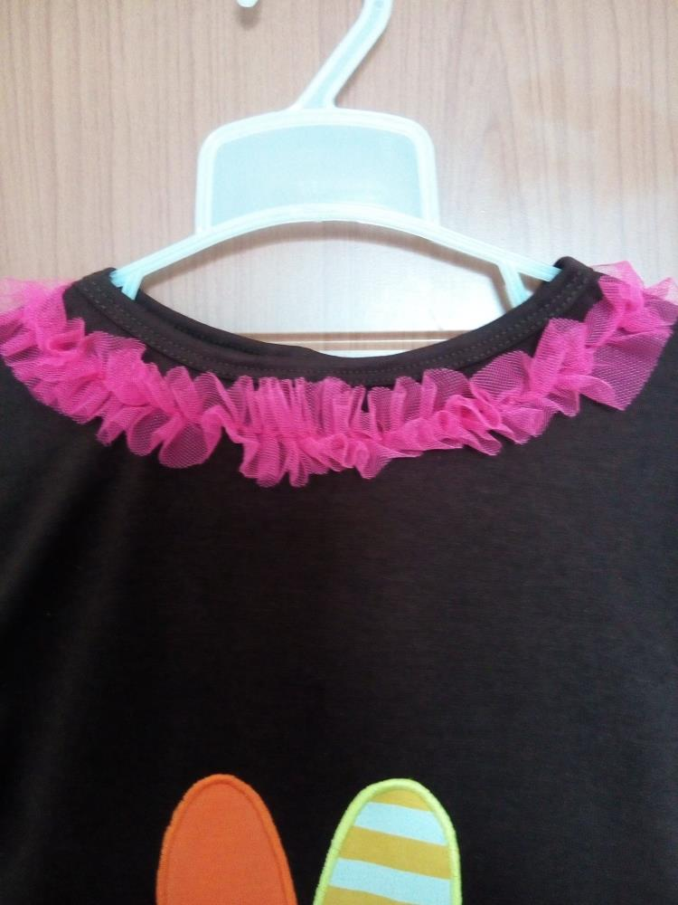Новинка бутик малышей хэллоуин костюмы красочные шеврон полосы рюшами брюки большой турция кружева топ девочка одежды BT062