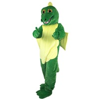 2018 New Hot Sale Green dinosaur Magic dragon Mascot Costume Adult Size Halloween Outfit Fancy Dress Suit Free Shipping