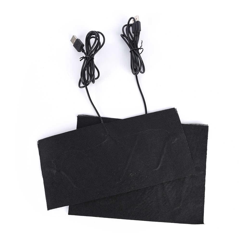 1 шт. грелки из углеродного волокна с USB подогревом с быстрым нагревом, теплая куртка с задней горловиной, пальто, аксессуары для жилетов, 5 размеров