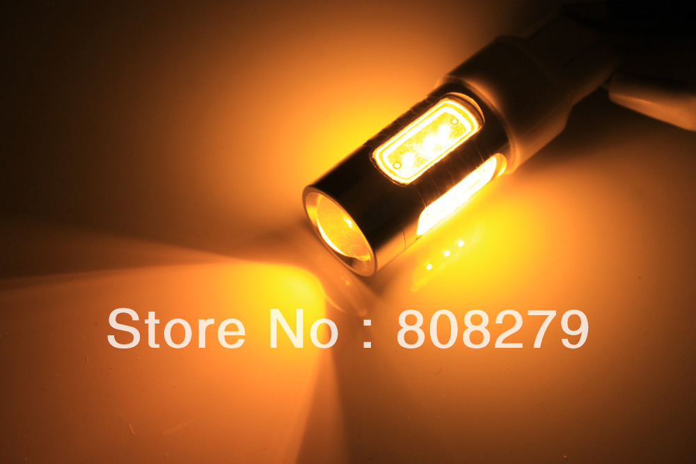 2pcs/Pair Bau15s 581 PY21W  High Power Car Turn Signal Bulb 7.5W Yellow Amber