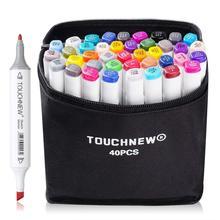 TOUCHNEW 30 40 لون القلم المهنية متفوقة الفنان جودة مزدوجة المنتهية أقلام تلوين دائم القلم الرسم الهزلي مشاريع فنية