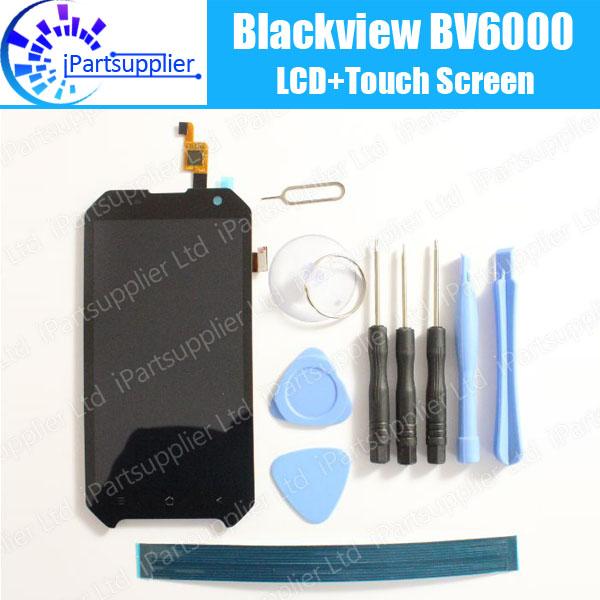 Prix pour Blackview BV6000 LCD Display + Tactile Écran 100% LCD D'origine Digitizer Panneau de Verre de Remplacement ForBlackview BV6000 + outils + adhésif