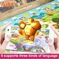 Бесплатная доставка играть мат детские игрушки , ползающих головоломки 3D коврик 200 * 180 * 0.6 см двусторонний портативный подъем площадку высоких технологий обучения