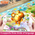 Free shipping play mat baby toys Crawling puzzle 3D mat 200*180*0.6CM Two Sided Infant  portable Climb Pad High-tech Learning