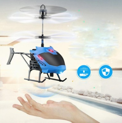 Mini Rc Helicopter Radio Remote Control Aircraft Channel Micro Drone luminous LED light flying Induction aircraft for Kids Gift