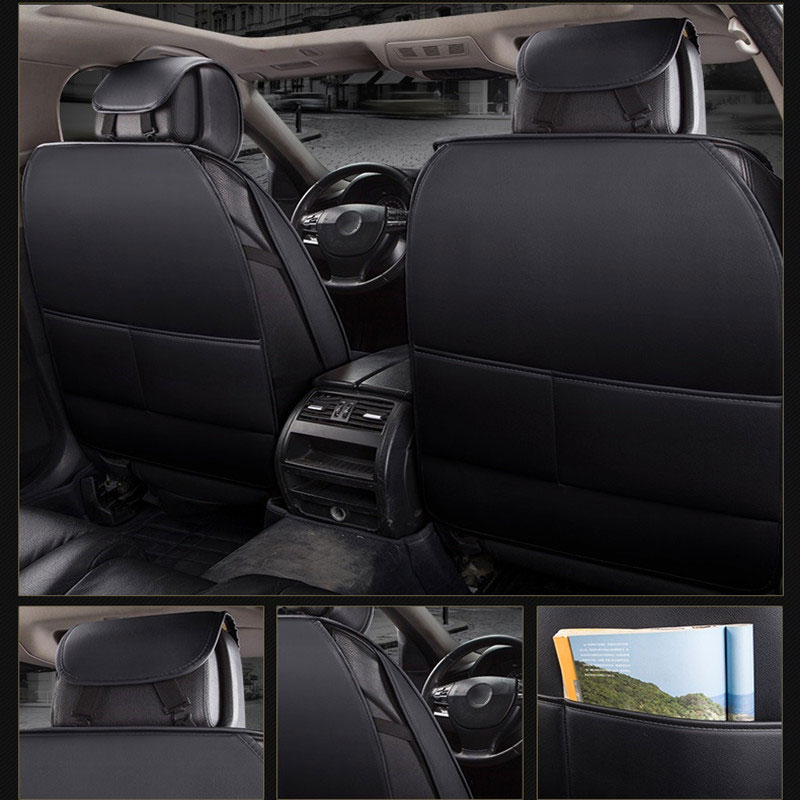 (Front +Rear) Special Leather Car Seat Cover auto seats cushion for volkswagen vw polo 6r 9n sedan sagitar santana volante caddy